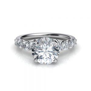 graduated-side-stone-round-cut-Simulated-diamond-engagement-ring-puregemsjewels