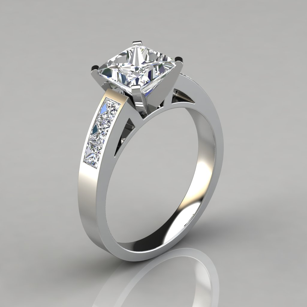 Princess Cut Channel Set Engagement Ring
