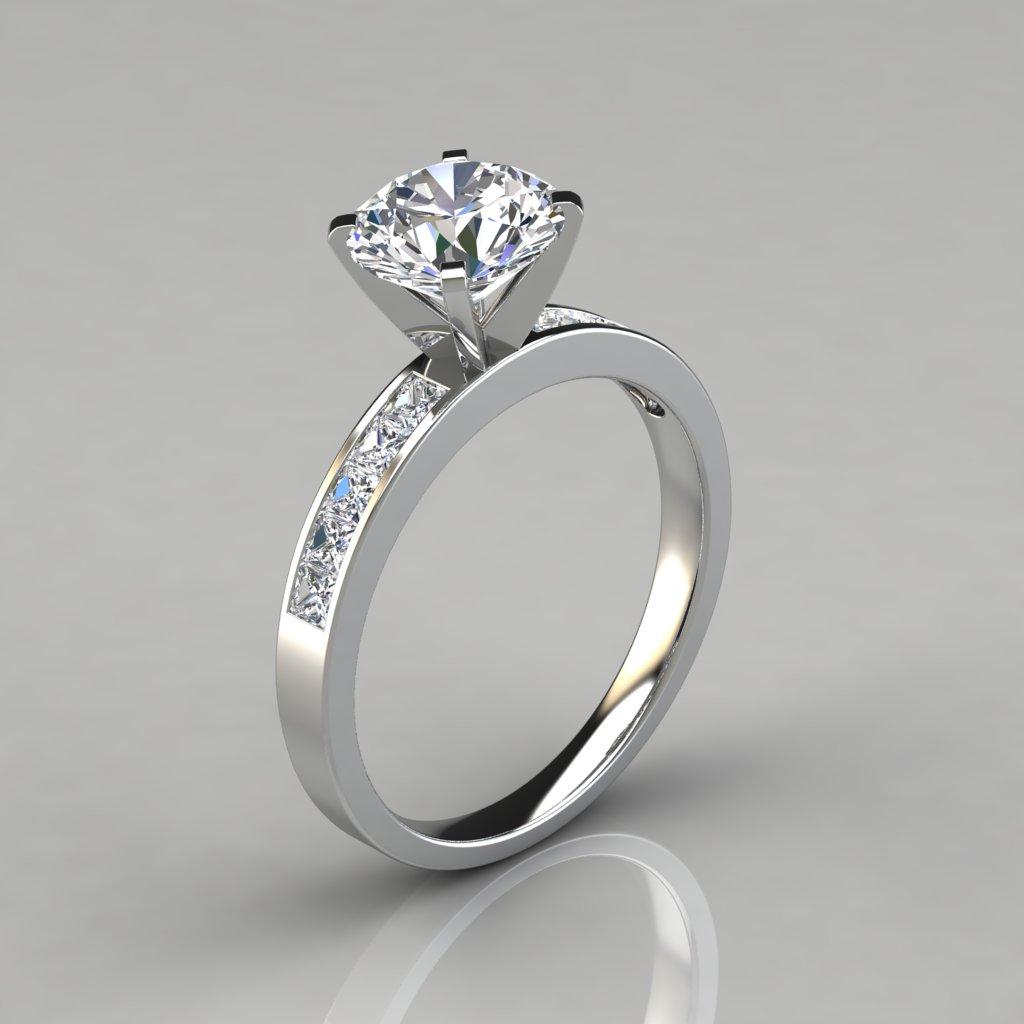 Round cut channel set engagement ring puregemsjewels for Wedding ring description