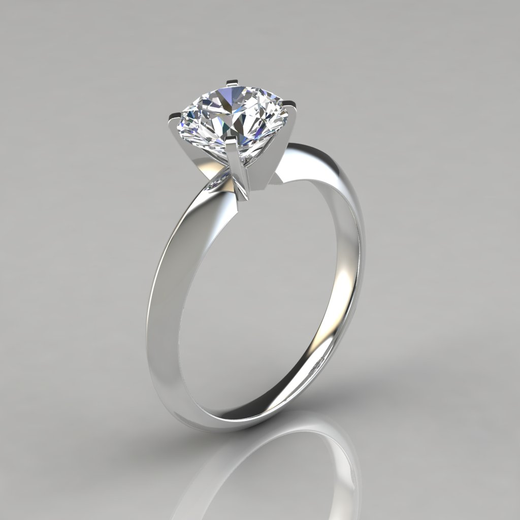 engagement band ring white knife four flush platinum round solitaire edge prong in pave set a rings brilliant enr gold