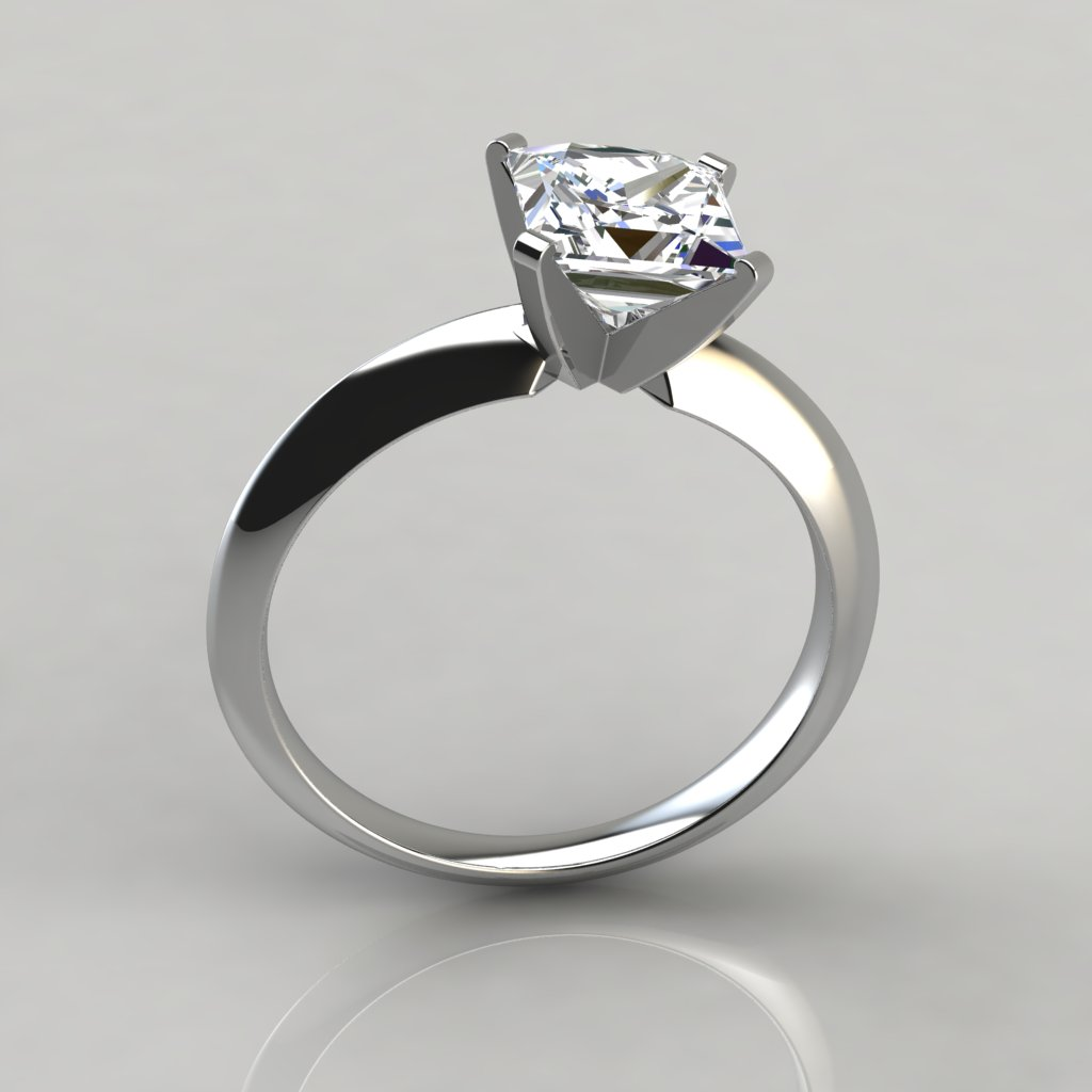 engagement platinum petite with catalina nouveau in four prong rings diamond pin solitaire signature preset ring