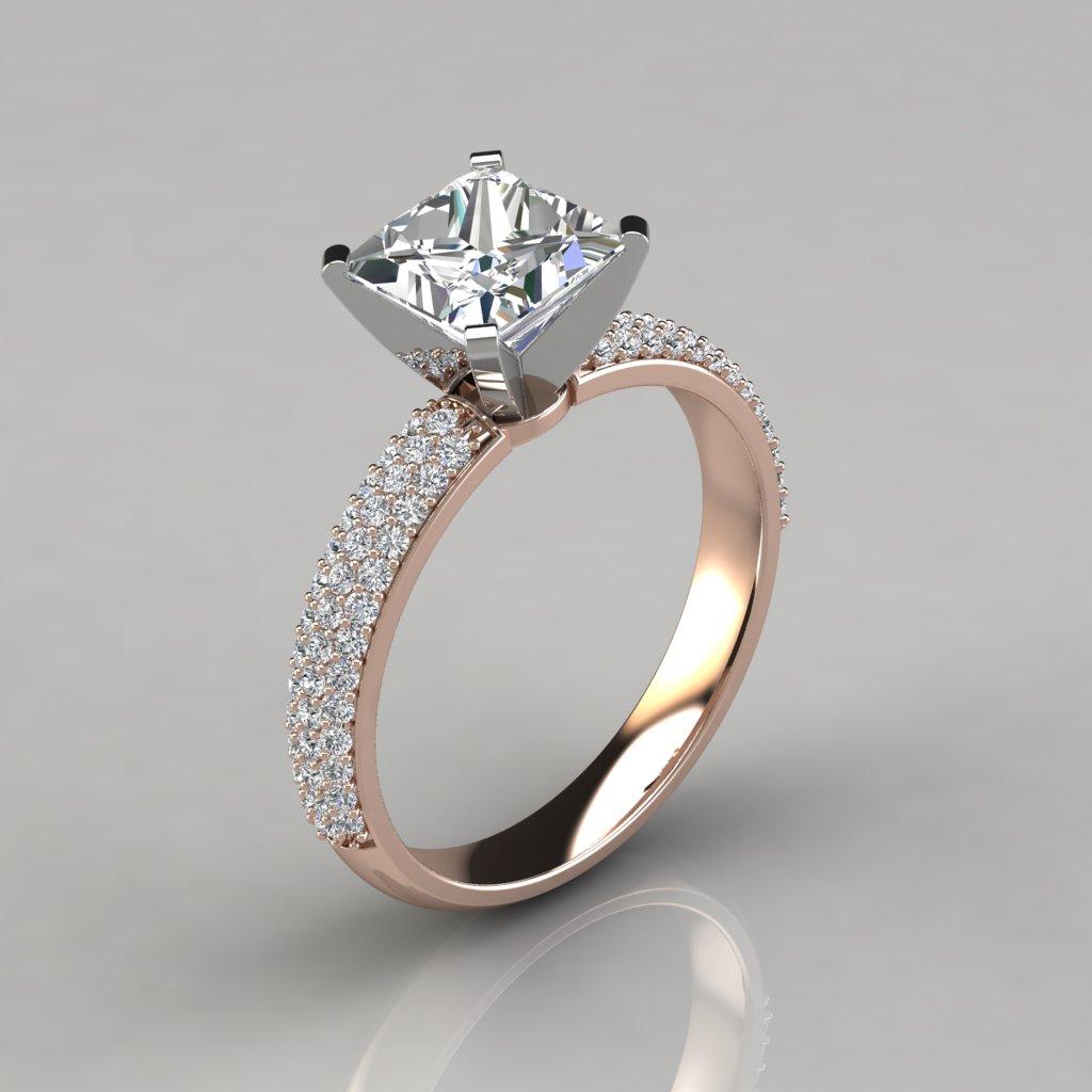 Carat Princess Cut Diamond Engagement Ring
