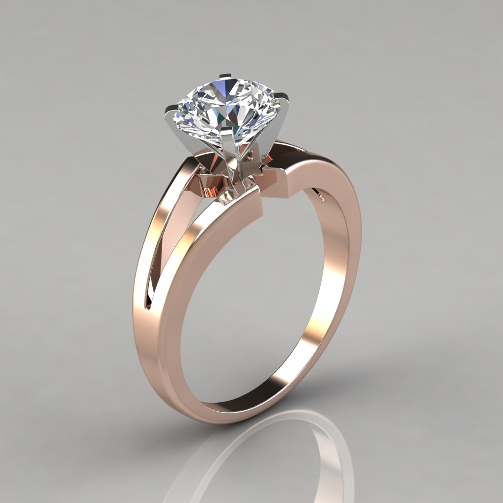with jl rings ring pt shank pointer india solitaire platinum w twist a in products engagement