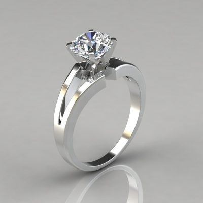 032w1-Split-Shank-Solitaire-Engagement-Ring-Man-Made-Diamond-Pure-Gems-Jewels-White-Gold