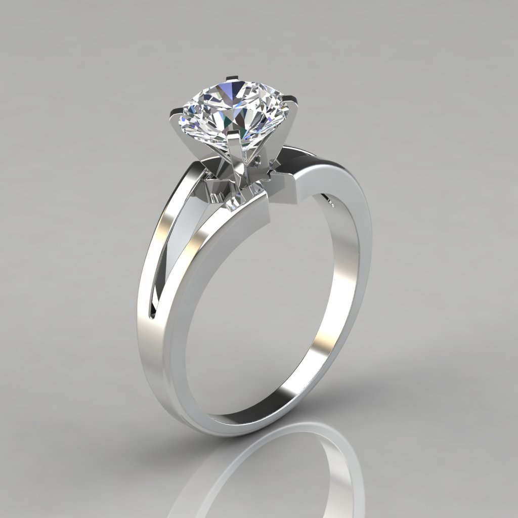 Split Shank Solitaire Engagement Ring Puregemsjewels