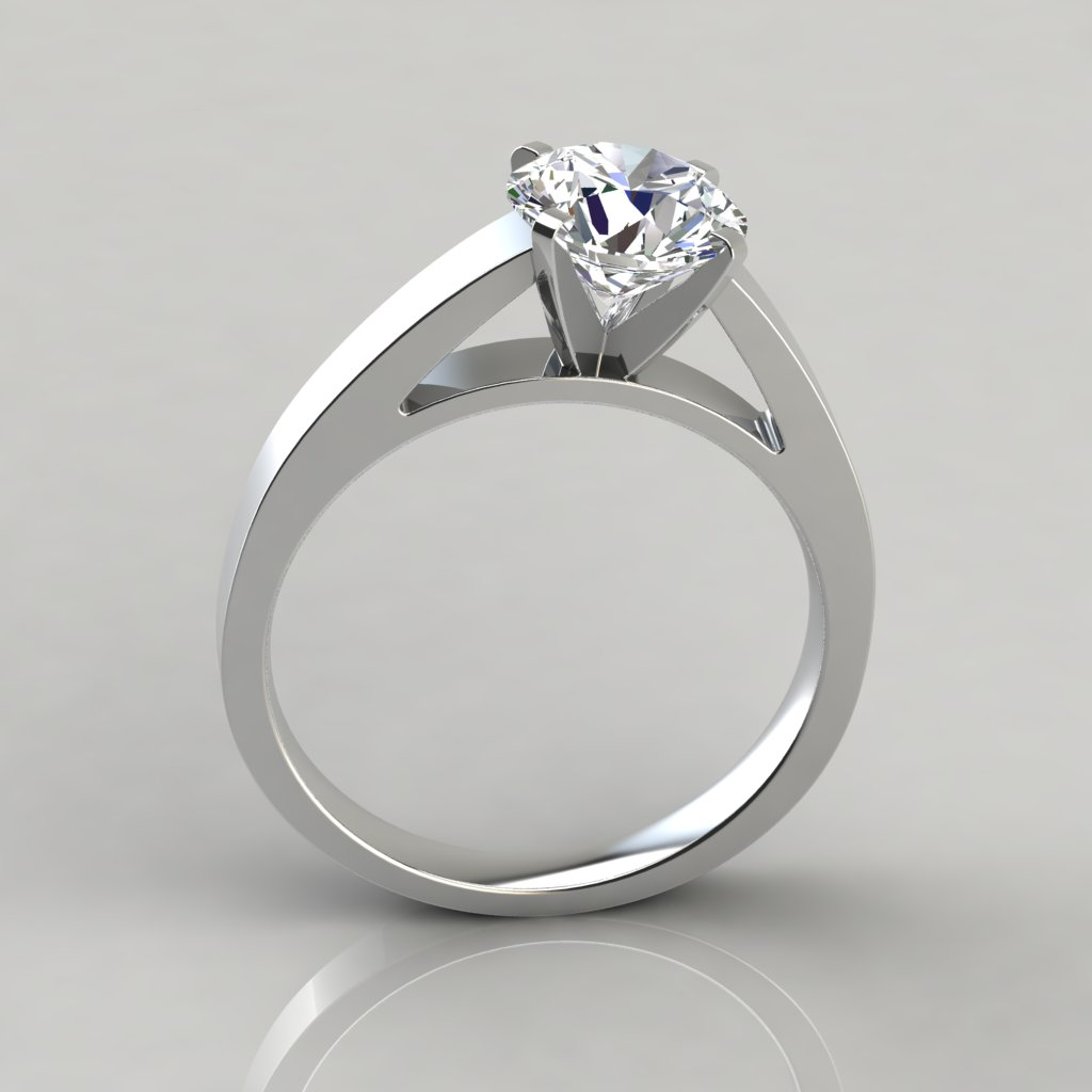 Solitaire Cathedral Style Engagement Ring Puregemsjewels