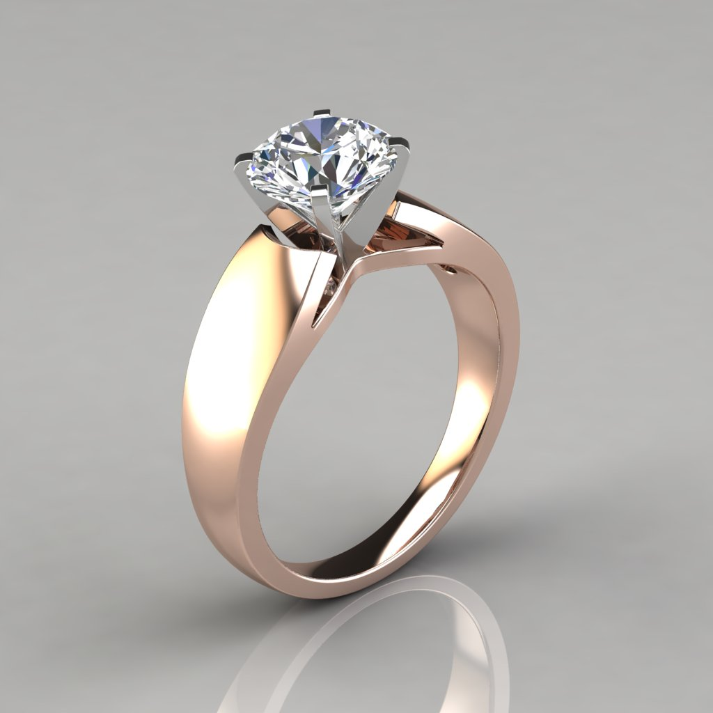 solitaire round tiffany with engagement ring band diamond and solitare bands wedding rings