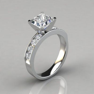 pure gems jewels,man made diamonds,engagement ring,white gold,princess cut,