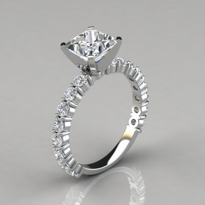 007w1-Princess-Cut-Common-Prong-Engagement-Ring-Man-Made-Diamonds-White-Gold-by-Pure-Gems-Jewels