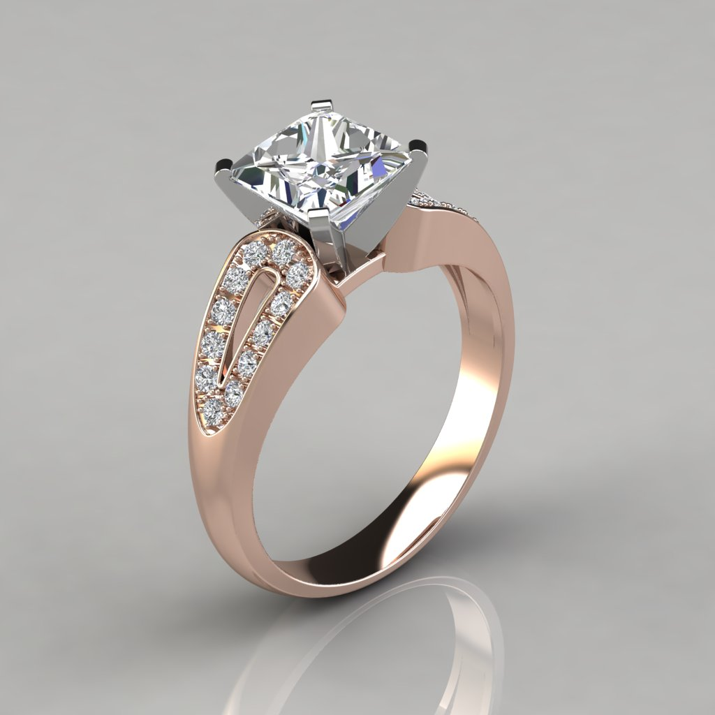 rings halo engagement gold ring diamond in jewelry shop for shank white split p