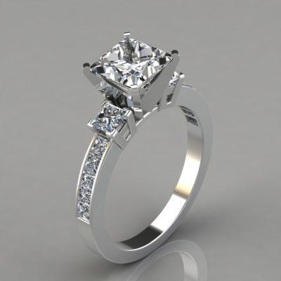 Man-Made-Diamonds-Three-Stone-Engagement-Ring
