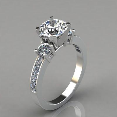 Round-Cut-Man-Made-Diamonds-Three-Stone-Style-Engagement-Ring