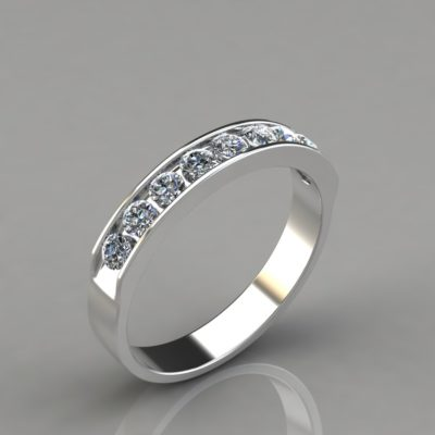 0.47Ct-White-Gold-Round-Cut-Wedding-Band-Ring-Man-Made-Diamond