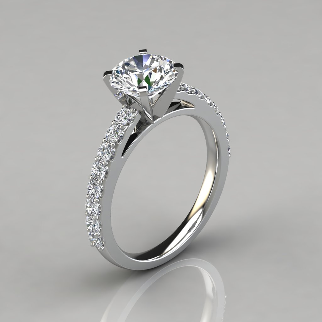 best setting cathedral of engagement solitaire rings ring
