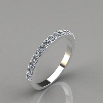 0.51Ct-White-Gold-Ladies-Round-Cut-Wedding-Band-Ring-Man-Made-Diamonds