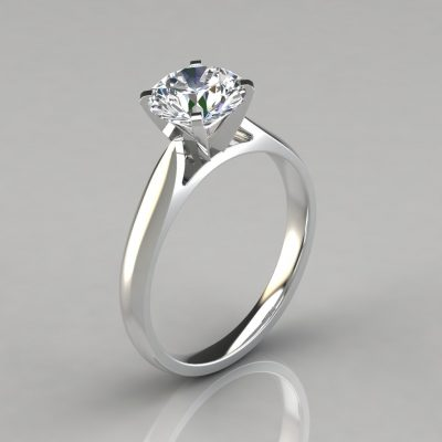092w1-Man-Made-Diamond-Solitaire-Engagement-Ring-14k-White-Gold-Pure-Gems-Jewels