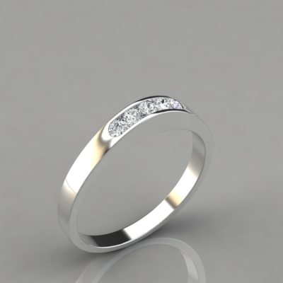 0.13Ct-Ladies-Wedding-Band-Ring-Man-Made-Diamonds-Solid-White-Gold