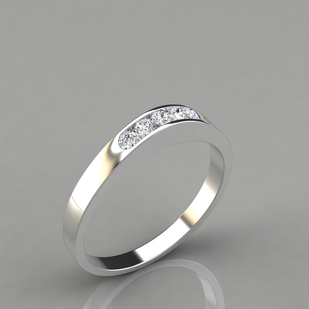 013ct ladies round cut wedding band ring puregemsjewels for Wedding ring description
