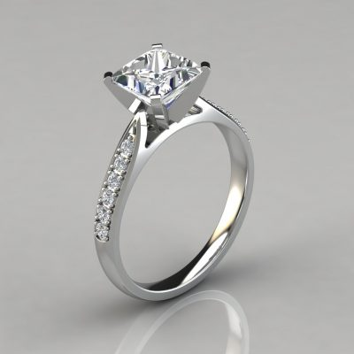 098w1-white-gold-princess-cut-cathedral-Pavé-engagement-ring