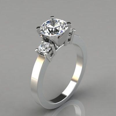 Round-Cut-Engagement-Ring-Man-Made-Diamonds-Three-Stone-Style