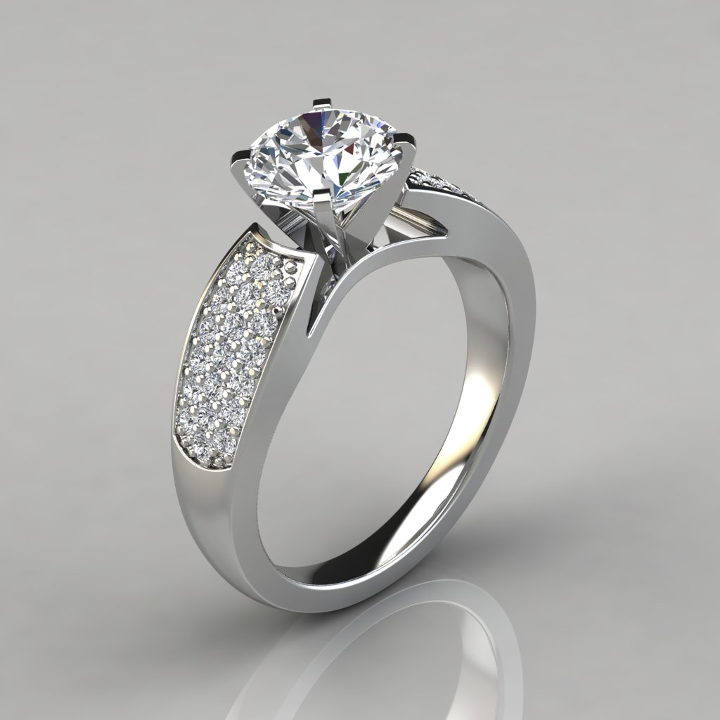 wide band wedding rings wide band engagement ring with accents puregemsjewels 1405
