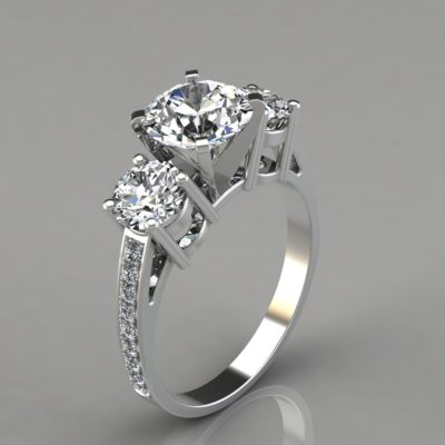 Man-Made-Diamonds-Three-Stone-Style-Engagement-Ring