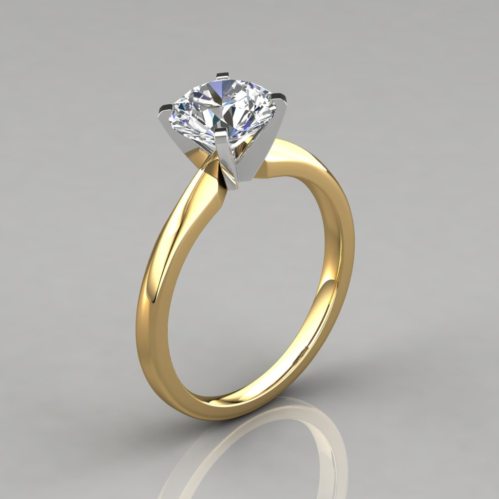 Classic Solitaire Round Cut Engagement Ring - PureGemsJewels