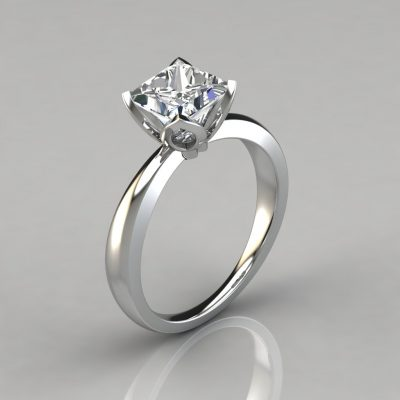 985de5f03b51b Solitaire Princess Cut Engagement Rings Archives - PureGemsJewels