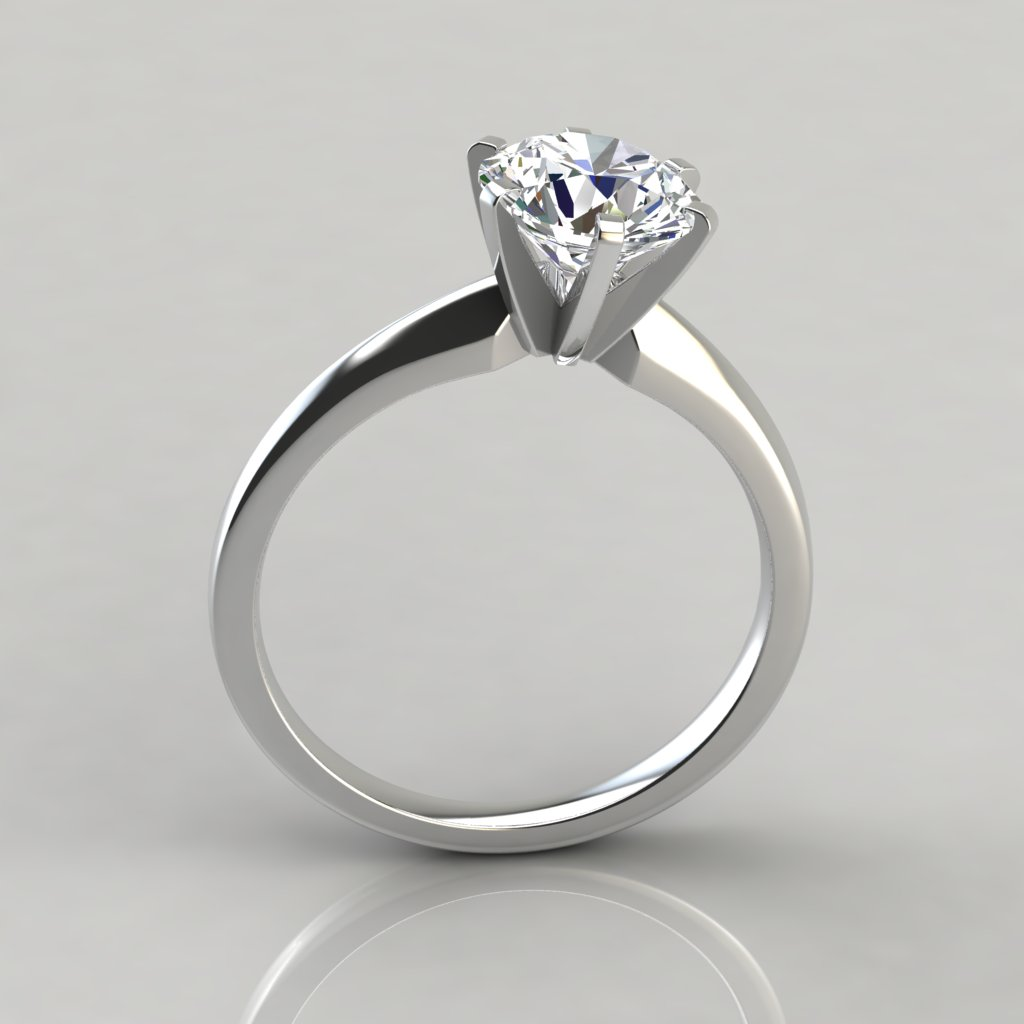 classic six prong solitaire engagement ring puregemsjewels
