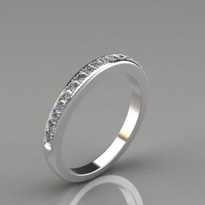 0.24Ct-Man-Made-Diamonds-Ladies-Wedding-Band-Ring-14k-White-Gold
