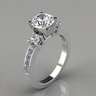Round-Cut-Three-Stone-Engagement-Ring-with-Accents