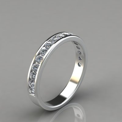 0.49Ct-Round-Cut-Wedding-Band-Ring-Man-Made-Diamond-White-Gold;