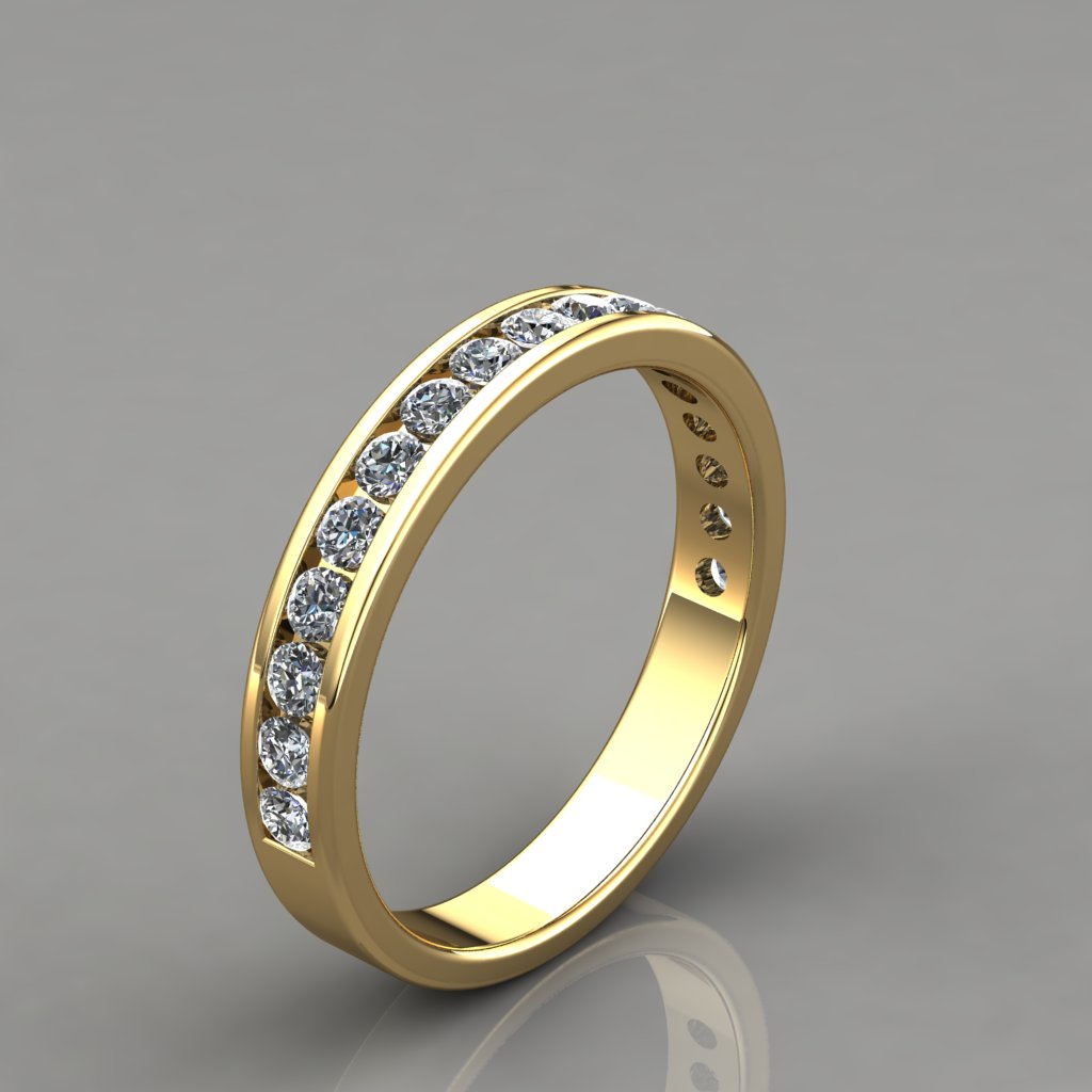 049ct ladies round cut wedding band ring puregemsjewels for Wedding ring description