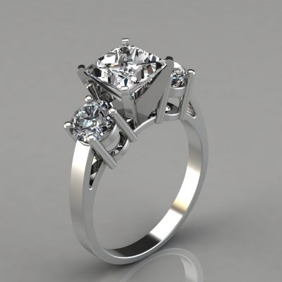 206w1-Three-Stone-Princess-and-Round-Cut-Engagement-Ring-Lab-Diamonds-Pure-Gems-Jewels-White-Gold