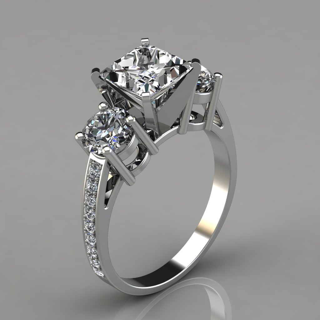 new three leaves diamond and ring parade stone in engagement by rings gold design white rose jewellery