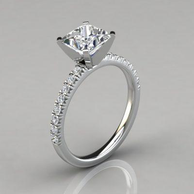 59361f75f Side-Stone Princess Cut Engagement Rings Archives - PureGemsJewels