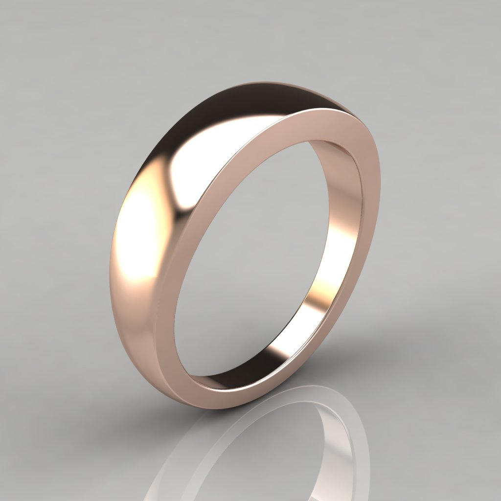 This is a photo of Plain Wide Gold Wedding Band Ring