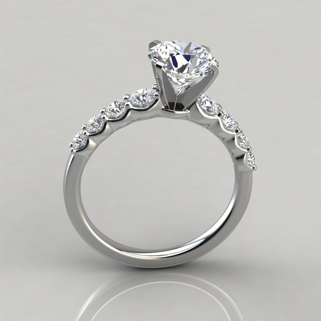 Graduated Side Stone Engagement Ring Puregemsjewels