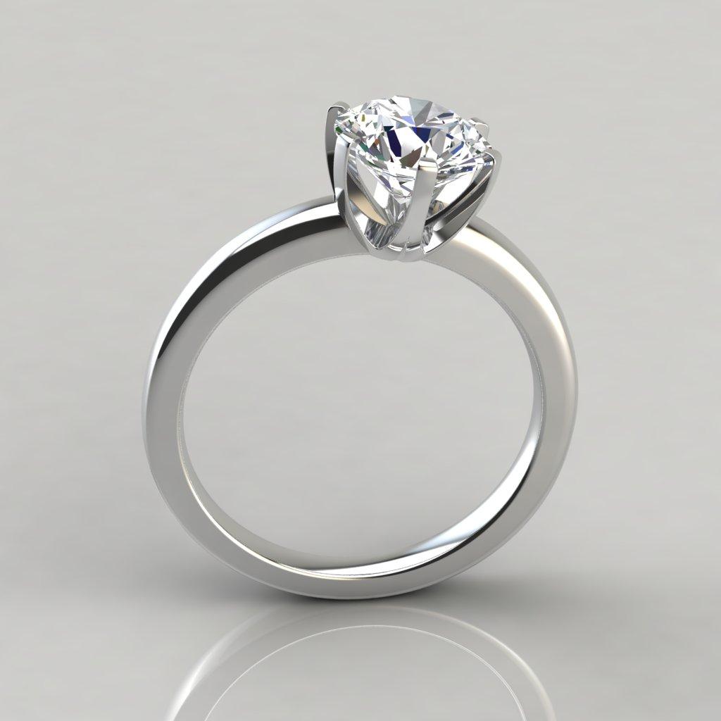 six prong solitaire engagement ring puregemsjewels