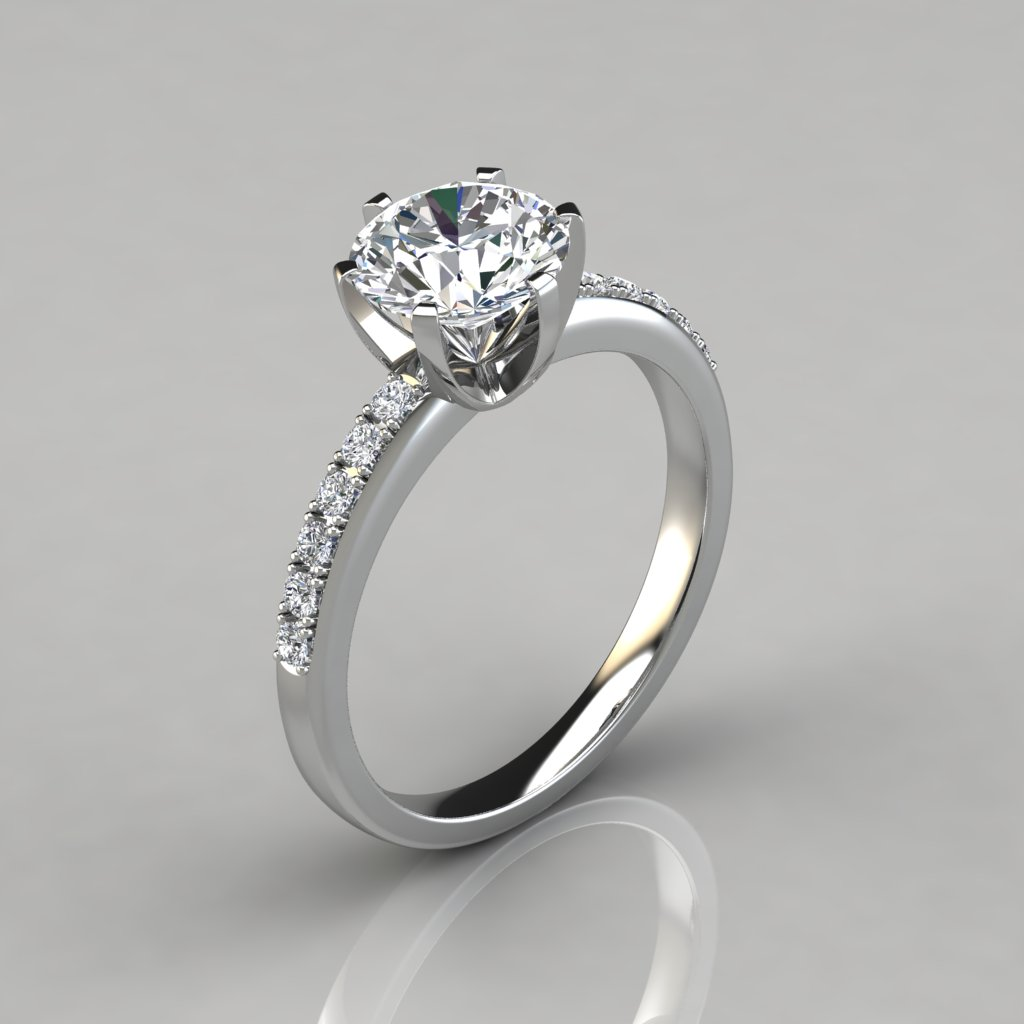 rings ct diamond cut min custom gold product round ring prong engagement and