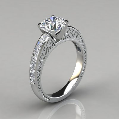 138w1-vintage-engraved-man-made-diamond-engagement-ring-14k-solid-white-gold
