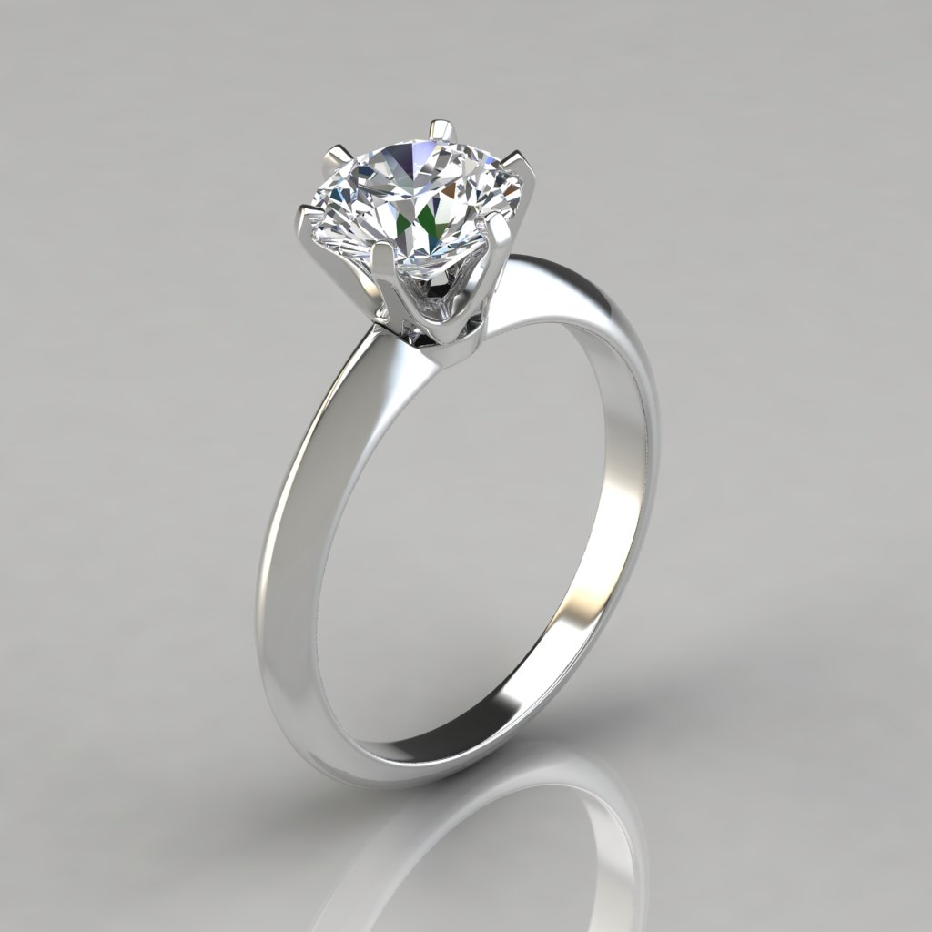 Diamond Solitaire Engagement Ring Used