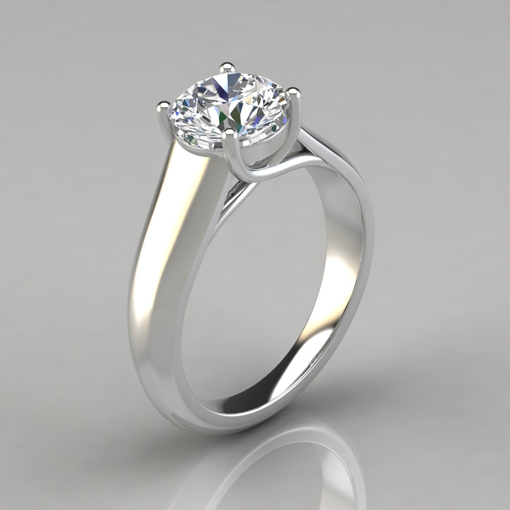 the ring shaped lucida small set been as profile semi u engagement for jewelry request diamond mount round thirty micro limpid of has designed carat with per customer