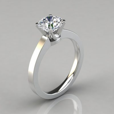 175w1-14k-Solid-Gold-Round-Cut-Solitaire-Man-Made-Diamonds-Engagement-Ring-Pure-Gems-Jewels