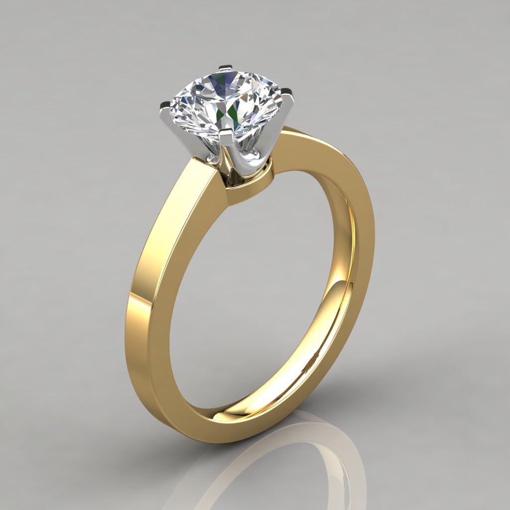 round cut solitaire engagement ring puregemsjewels. Black Bedroom Furniture Sets. Home Design Ideas