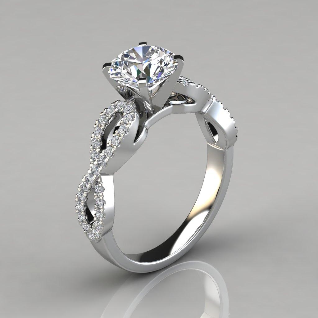 7c3a0aa47 Lab Diamonds Infinity Design Round Brilliant Cut Engagement Ring