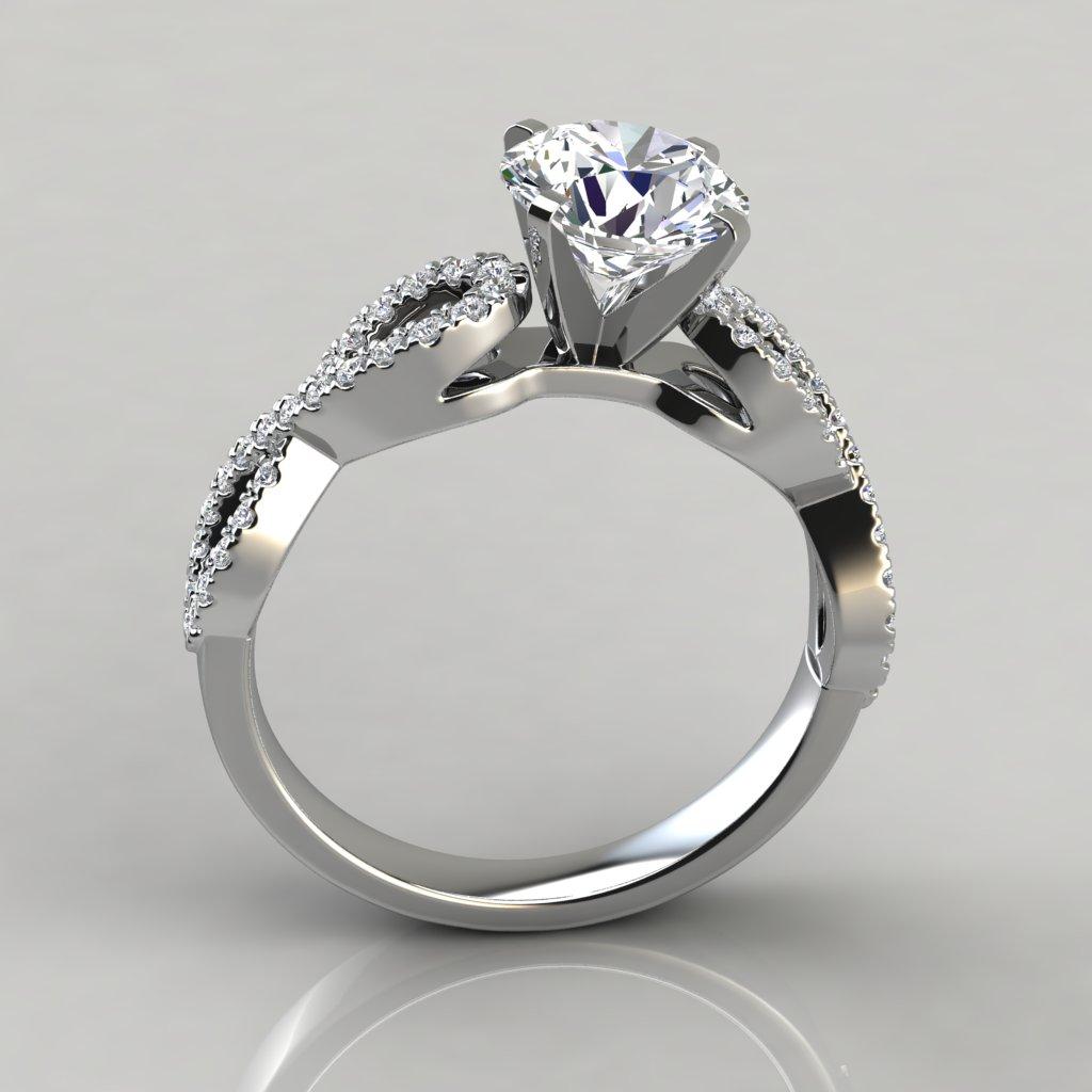 Infinity Design Wedding Ring Lab Diamonds Infinity Design Round Brilliant Cut