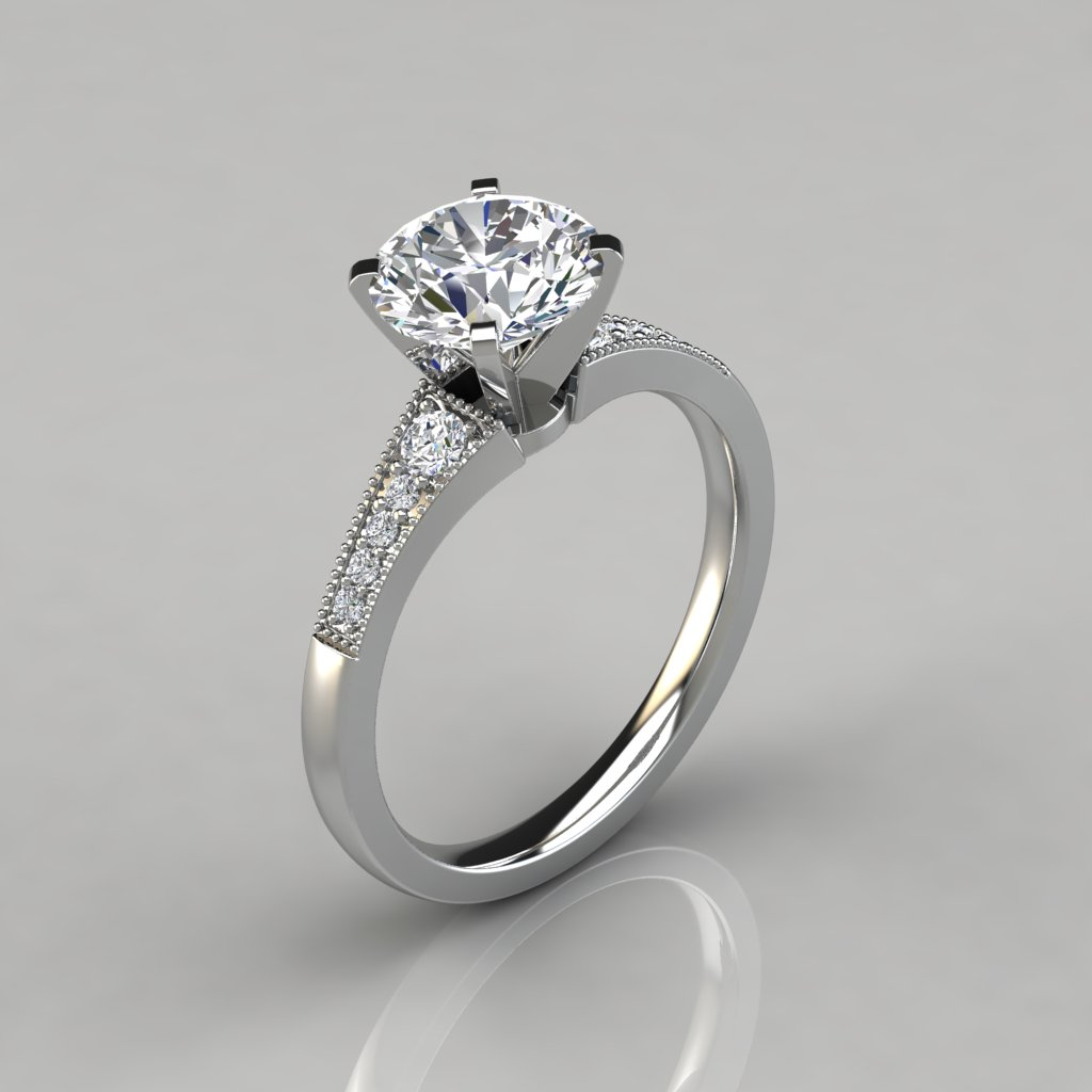 with round side ladies engagement ring on the s ct diamond cut princess rings