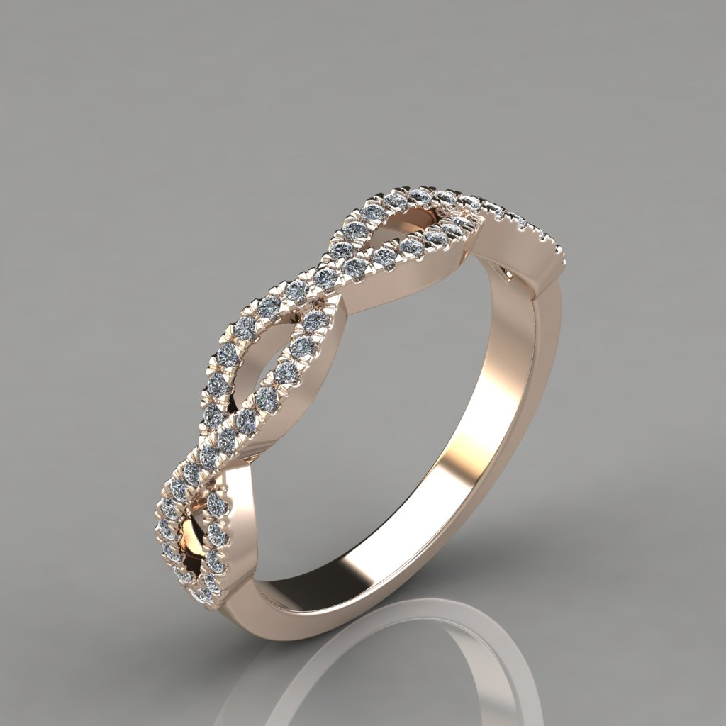 284r1 0 24ct Infinity Design Lab Diamonds Wedding Band