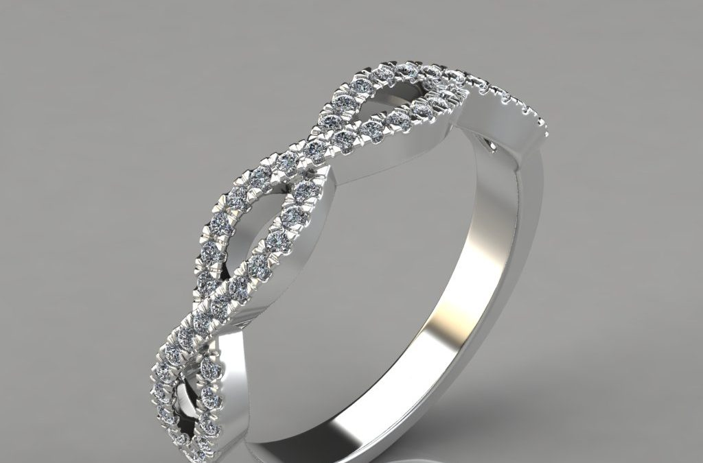 0.24Ct Infinity Design Wedding Band Ring